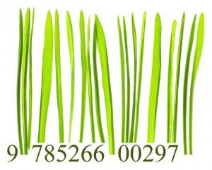 Bar code made from grass blades